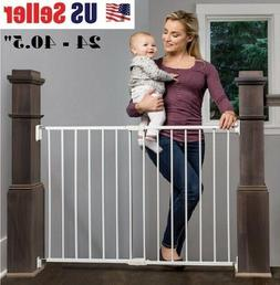 Baby Safety Gate Wood Fence Pet Walk Thru Child Protection T