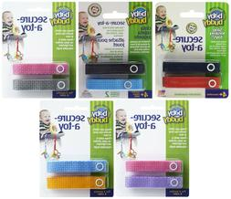 Baby Buddy Secure-a-Toy Toy Straps for Car Seat, Stroller or
