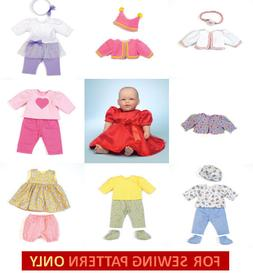 SEWING PATTERN! MAKE BABY DOLL CLOTHES FOR BITTY BABY~TOODLE
