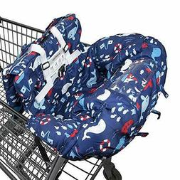 Shopping Cart Cover for Baby- 2-in-1, Foldable Portable Seat