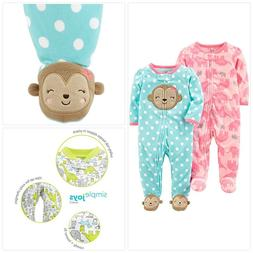 Simple Joys by Carter's Baby Girls' 2-Pack Fleece Footed Sle