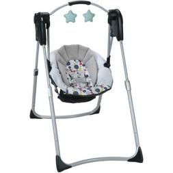 Graco Slim Portable Folding Spaces Compact Baby Swing Seat