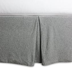 Soft, Organic Cotton Knit Terry Crib Skirt in Heather Grey