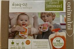 Infantino Squeeze Pouches for homemade baby food, 50 pouches
