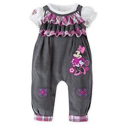 DISNEY STORE MINNIE MOUSE CORDUROY DUNGAREE SET FOR BABY GIR