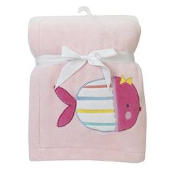 Bedtime Originals Sugar Reef Fish Blanket, Pink
