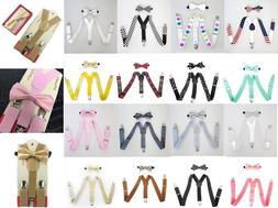 Suspender and Bow Tie Set for Baby Toddler Kids Boys Girls C