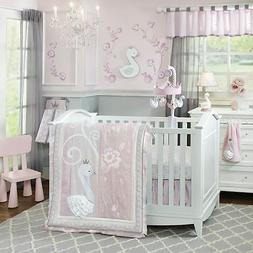 Lambs & Ivy Swan Lake 4 Piece Crib Bedding Set