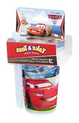 The First Years Take & Toss Disney Pixar Cars Straw Cups 18M