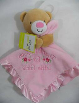 ~Baby Starters~ Thank Heaven For Little Girls Bear Lovey Sec