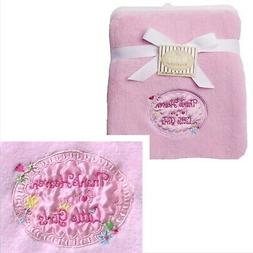 """Baby Starters """"Thank Heaven for Little Girls"""" Pink Baby Blan"""