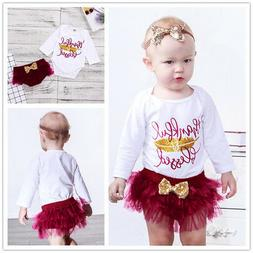 Thanksgiving Outfits Romper Ruffle Bottom Clothes for Little