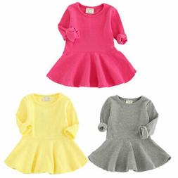 Toddler Baby Girls Long Sleeve Princess Dress Party Pageant