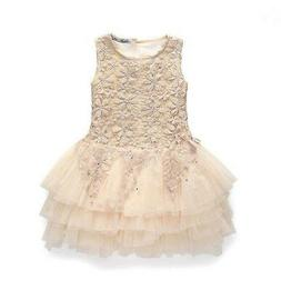 Toddler Baby Kids Girls Lace Sleeveless princess Party dress