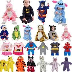 Toddler Baby Kids Hooded Romper Kigurumi Animal Cosplay Cost