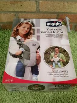 Chicco UltraSoft Infant Carrier Grey for Infants 7.5-25lbs