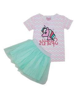 Unicorn Tutu 2 Piece Set for Girls - Baby and Toddler