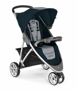 Chicco Viaro Quick-Fold Stroller - Regatta Blue Grey
