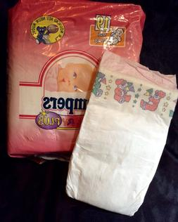 Vintage Pampers Baby-Dry Plus Diaper Sz Midi for Girls Greec