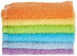 Luvable Friends Washcloths, Yellow, 6-Count