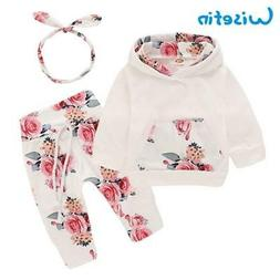 b390cfc6b Wisefin Baby Girl Clothes Full Set With Headband 3 Pcs Newbo