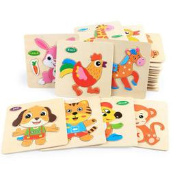 Wooden Puzzle Educational Developmental Baby Kids Training T