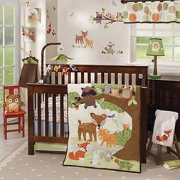 Lambs & Ivy Woodland Tales 4-Piece Crib Bedding Set - Brown,