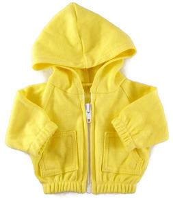 Yellow Hoodie Jacket made for Bitty Baby + Twins Doll Clothe